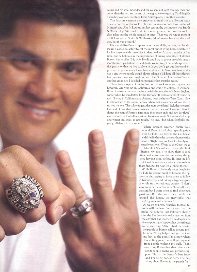 Patriotworld.com~Home of 2003 Patriots Fan of the Year & Tedy ...